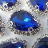 Našívacia sklenená aplikácia - kráľovská modrá