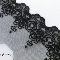 Čipka vzor I, čierna 100 mm - cena za 10 cm