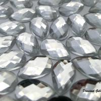 Ozdobné kamienky 8 x 13 mm - Crystal