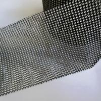 Kamienková stuha striebornočierna - cena za 10 cm