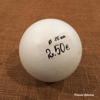 Polystyrénová tvarovka - guľa - 15 cm