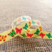 Rypsová stuha 15 mm - Motýliky