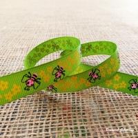 Rypsová stuha 15 mm - Včielky
