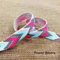 Popruh 20 mm - Ružový melírový