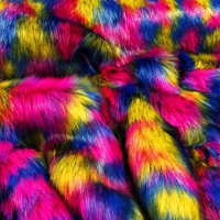 Kožušina umelá - Huňatá Multicolor - cena za 10 cm