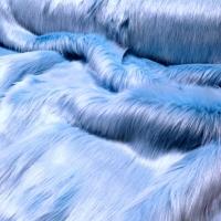 Kožušina umelá - svetlá modrá - cena za 10 cm