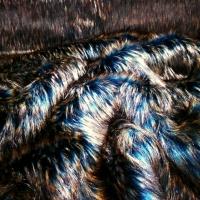 Kožušina umelá - huňatá viacfarebný melír - cena za 10 cm