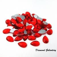 Ozdobné kamienky 8 x 13 mm - Červené