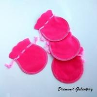 Dekoračná taštička - ružová - 90 x 73 mm
