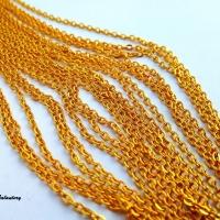 Bižutérna retiazka zlatá 3 x 2,5 mm