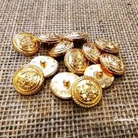 Kovový gombík zlatý 20 mm - kotva