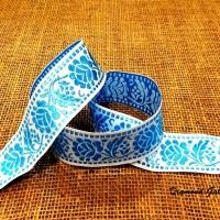 Krojová stuha 40 mm - Modrá