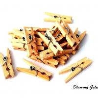 Ozdobné drevené štipčeky 20 kusov - natural