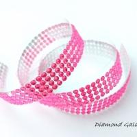 Nálepovacia kamienková páska - 45 cm - svetloružová
