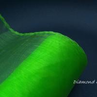 Obšitá organza 12 cm - zelená