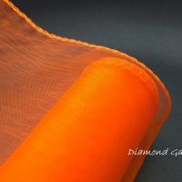 Obšitá organza 12 cm - oranžová