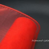 Obšitá organza 12 cm - červená