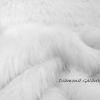 Kožušina umelá huňatá - Top Snow White - cena za 10 cm