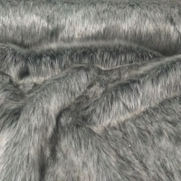 Kožušina umelá - svetlošedý melír III 1600 mm - cena za 10 cm