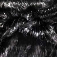 Kožušina umelá - TOP Black - 1460 mm - cena za 10 cm