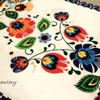Bavlnená látka - Folk IV - cena za 10 cm