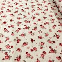 Bavlnená látka - Ružičky - cena za 10 cm