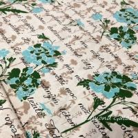 Bavlnená látka - Textová potlač - cena za 10 cm