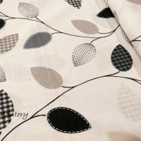 Bavlnená látka - Listy - cena za 10 cm