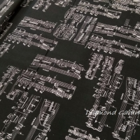 Bavlnená látka - Noty - cena za 10 cm