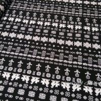 Bavlnená látka - Čičmany čierno biele - cena za 10 cm