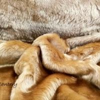 Kožušina poťahová - Béžová 31525 - cena za 10 centimetrov
