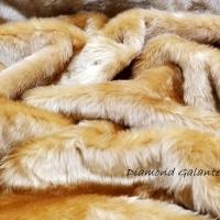 Kožušina poťahová - Béžová 33561 - cena za 10 centimetrov
