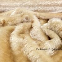 Kožušina poťahová - Béžová 32540 - cena za 10 centimetrov