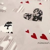 Bavlnená látka - Srdcia - cena za 10 centimetrov