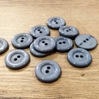Plastový gombík - 28 mm - šedý