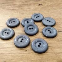 Plastový gombík - 34 mm - šedý