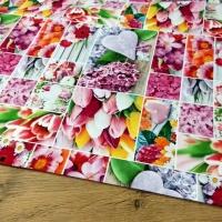 Bavlnená látka - Flowers Love - cena za 10 cm