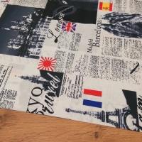 Bavlnená látka - Madrid - Cena za 10 centimetrov
