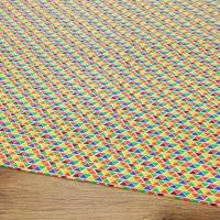 Bavlnená látka - Trojuholníky farebné - cena za 10 centimetrov