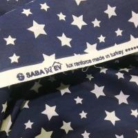 Bavlnená látka - Hviezdičky na tmavomodrom - šírka 240 cm - cena za 10 centimetrov