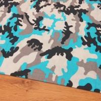 Bavlnená látka - Maskáč modrý - cena za 10 centimetrov