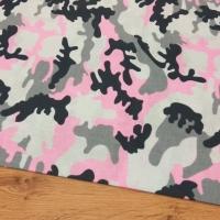 Bavlnená látka - Maskáč ružový - cena za 10 centimetrov