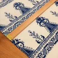 Bavlnená látka - Ľudový vzor XX- cena za 10 centimetrov