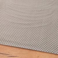 Bavlnená látka - Bodky biele na šedom tmavšom 2 mm - cena za 10 centimetrov