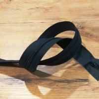 Zips pogumovaný vodeodolný - čierny - 95 cm