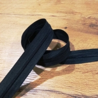 Zips špirálový - 3 mm metráž - Čierny