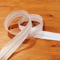 Zips špirálový - 3 mm metráž - Biely