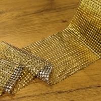 Kamienková stuha pologuľa - zlatá - cena za 10 cm