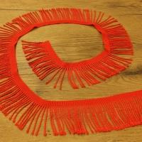Ozdobná lemovka strapcová 60 mm - Červená