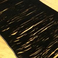 Ozdobná lemovka strapcová 200 mm - Čierna